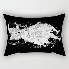 hairy bat Rectangular Pillow