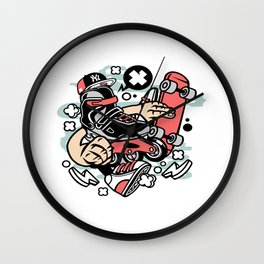 Roller Bladefor animated characters comics and pop culture lovers Wall Clock