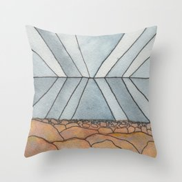 Sea and Sky Reflection Throw Pillow