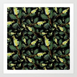 Australian Native Floral Pattern - Beautiful Grevillea Art Print
