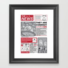 The News Framed Art Print