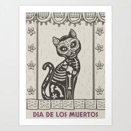 Dead Cat Art Print