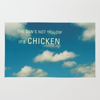 chicken Area & Throw Rugs featuring Chicken by Alec Yeoman