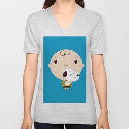 Snoopy chibi Unisex V-Neck