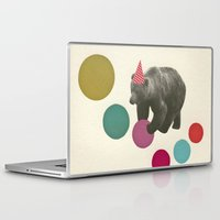 birthday Laptop & iPad Skins featuring Birthday Bear by Cassia Beck