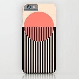 Abstraction_NEW_SUN_SUNSET_LINE_POP_ART_Minimalism_001AA iPhone Case