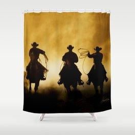 Three Cowboys Western Shower Curtain