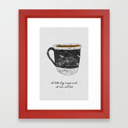 I Like Big Cups, Coffee Illustration Framed Art Print