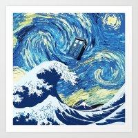 Tardis Great Wave Art Print