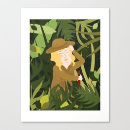 Lady Explorer Canvas Print