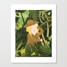 Lady Explorer Canvas Print