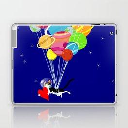 Space Cat in Love Laptop & iPad Skin