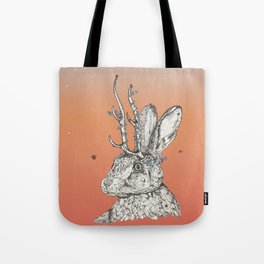 The Jackalope and the Ladybirds at Dawn Tote Bag
