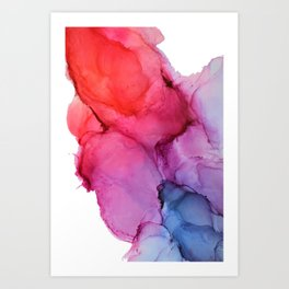 Bleeding Rainbow Blend - Alcohol Ink Painting Art Print