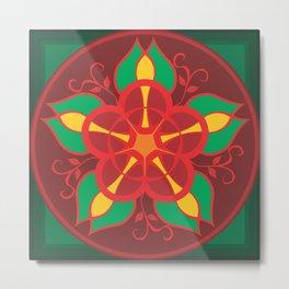 Mandala Flower by FreddiJr Metal Print