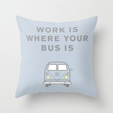 VW Bus love Throw Pillow