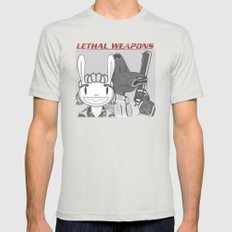 Lethal Weapons Silver SMALL Mens Fitted Tee