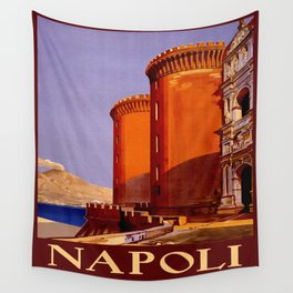 Napoli - Naples Italy Vintage Travel Wall Tapestry