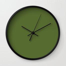 Dark Olive Green Wall Clock