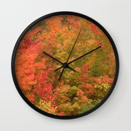My favorite color is October Wall Clock