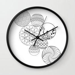 Mandalas, circles and flowers Wall Clock