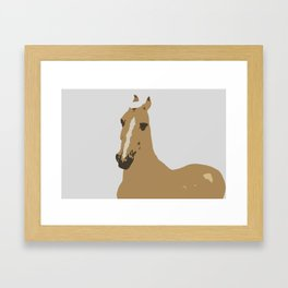 Abstract Palomino Horse Framed Art Print