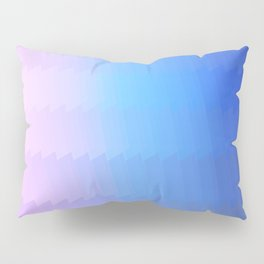 blue pink ombre color gradient abstract pattern Pillow Sham