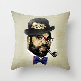 MISTER TEA Throw Pillow