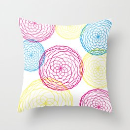 Spiro Blooms Throw Pillow