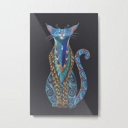 Cat Totem Metal Print