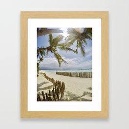 Boracay Sunshine Framed Art Print