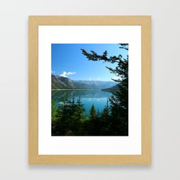 Beautiful Lake Minnewanka Framed Art Print