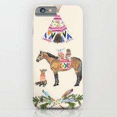 Family with horse, fox, rabbit, owl iPhone 6s Slim Case