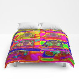 CRAZY NUT OLD CARS Comforters