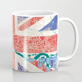 London Union Jack Flad Coffee Mug
