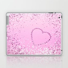 Sparkling UNICORN Girls Glitter Heart #1 #decor #art #society6 Laptop & iPad Skin