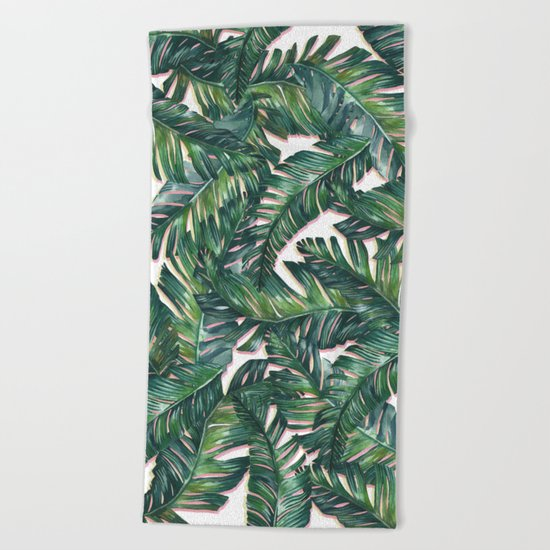 banana leaf 3 Beach Towel