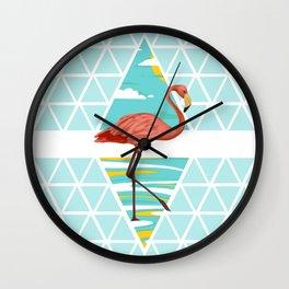 Modern FLamingo Wall Clock