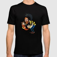 Don't let the kittah cocktail out on a cold day! Black MEDIUM Mens Fitted Tee