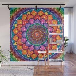 Lotus Rainbow Mandala Wall Mural