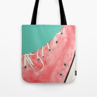 converse Tote Bags featuring Converse by Clawson Creatives