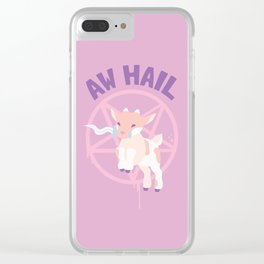Aw Hail - Pastel Pinks Clear iPhone Case