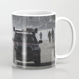 Lifeguard truck on the beach Coffee Mug