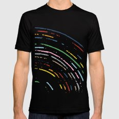 Rainbow Part Disc MEDIUM Mens Fitted Tee Black