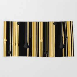 DRIPPING IN GOLD Beach Towel