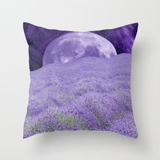 LAVENDER MOON Throw Pillow