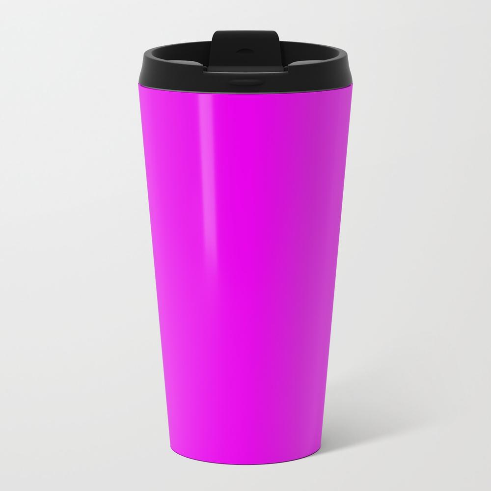 Bright Purple Solid Color Metal Travel Mug by Himpfen MTM8245493