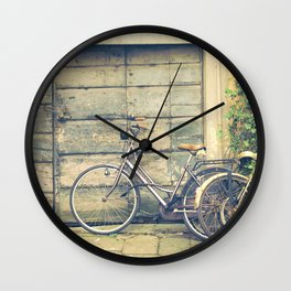 bikes in lucca  Tuscany Italy Wall Clock