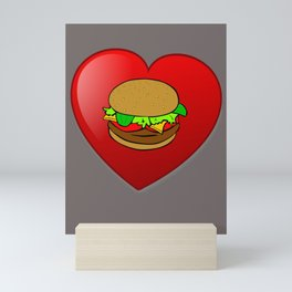 Tolles Burger Motiv Hamburger Cheeseburger lecker Fast Food Mini Art Print