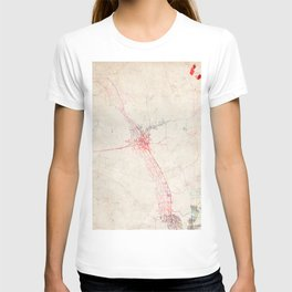 Las Cruces map New Mexico T-shirt